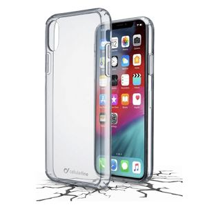 pouzdro na mobil Pouzdro Cellularline Clear Duo zadní Apple iPhone Xs Max