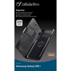 Cellularline pouzdro na mobil Supreme pro Samsung Galaxy S10+ černé