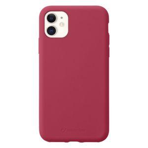 pouzdro na mobil Ochranný silikónový kryt Cellularline Sensation pre Apple iPhone 11 Sensationiphxr2r, červený