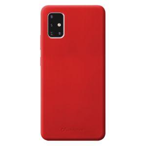 Cellularline pouzdro na mobil Ochranný silikonový kryt Sensation pro Samsung Galaxy A51 Sensationgala51r, červený