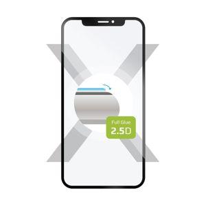 tvrzené sklo pro mobilní telefon Ochranné tvrzené sklo Fixed Full-cover pro Samsung Galaxy A12, lepení přes celý displej, černé