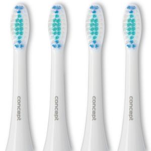 Concept Zk0001 Náhradní hlavice k zubním kartáčkům Perfect Smile Zk4000, Zk4010, Zk4030, Zk4040, Daily Clean, 4 ks