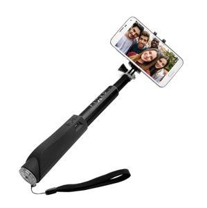 Fixed držák na mobil Bluetooth selfie stick s tlačítkem, Black