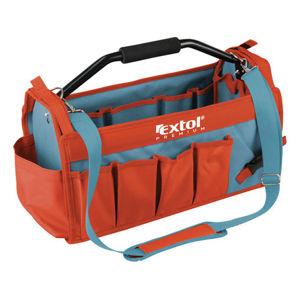 Extol Premium 8858022 taška na nářadí s kovovou rukojetí, 49x23x28cm, 31 kapes, nylon